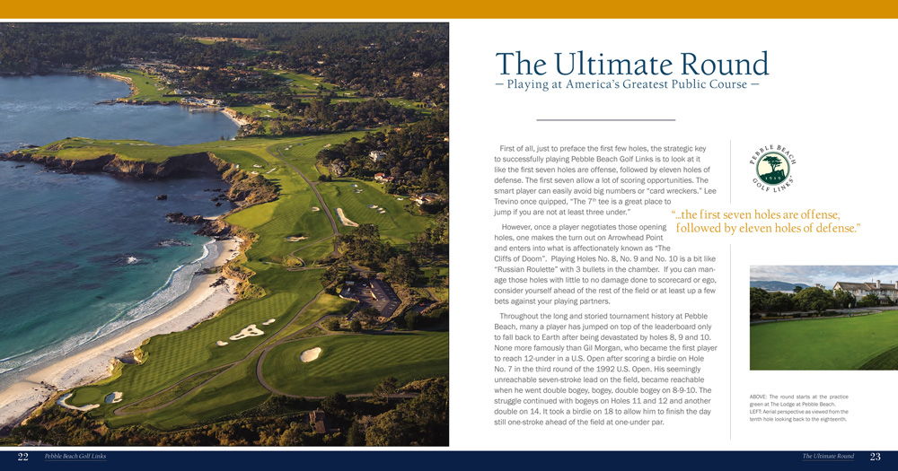 The Ultimate Round Pebble Beach Golf Links