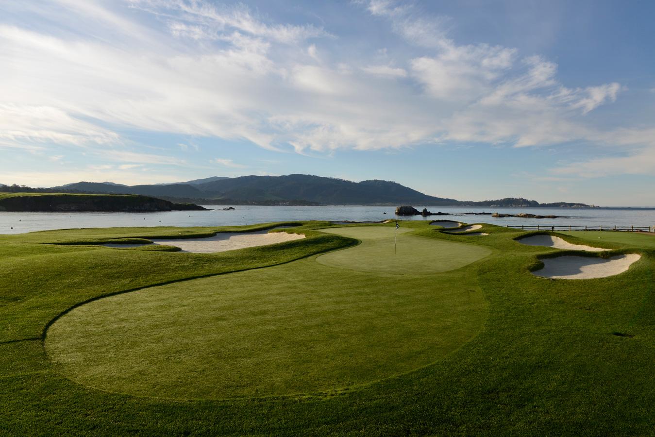Pebble Beach Golf Links, Hole 17 - Joann Dost Golf Editions