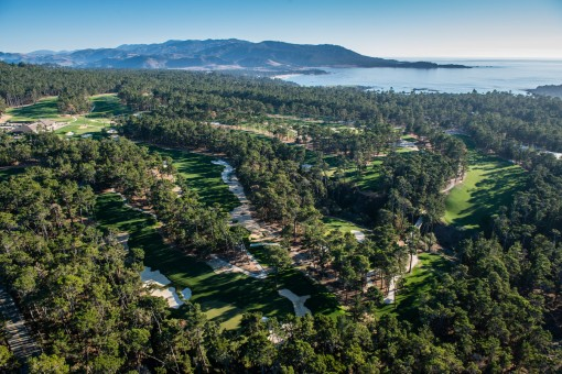 Poppy Hills Golf Course, Aerial