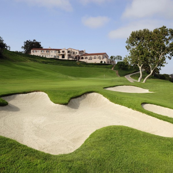 Riviera Country Club, Hole 18 Sand